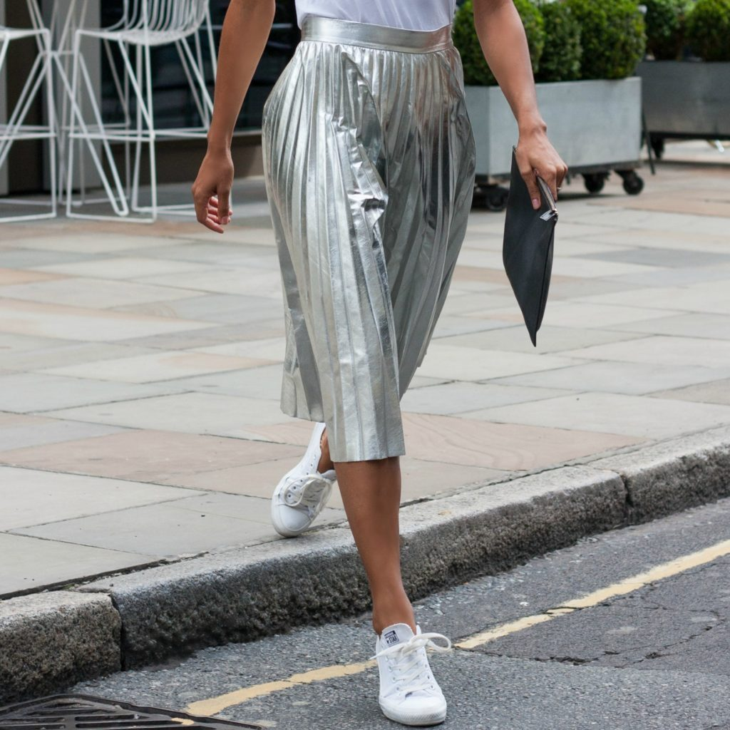How to Style a Silver Skirt