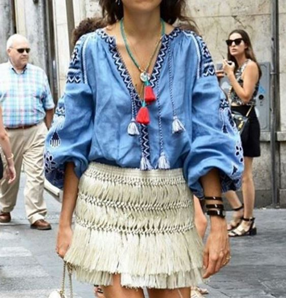 Corporate-Style-Story-Embroidered-Peasant-Top-Vita-Kin-Blue